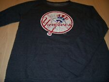 MAJESTIC NEW YORK YANKEES LS GRAY SWEATSHIRT MENS LARGE EXCELLENT CONDITION
