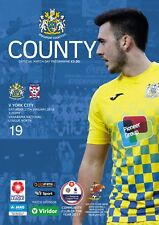 19 Stockport County V York City 2017-18 National League North Programme