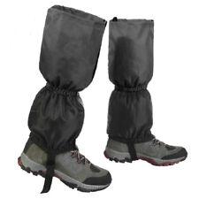 Waterproof Walking Gators Boot Hiking Climbing Leggings Trekking Gaiters Black