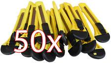 50 X Cuttermesser 18 mm Universal Cutter Teppichmesser Paketmesser