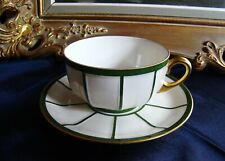 Grand Paire De Thé PORCELAINE ART DÉCO Raynaud & C° Limoges France 1919