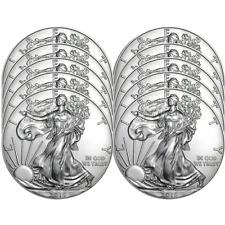 Lot of 10 - 2019 $1 American Silver Eagle 1 oz Brilliant Uncirculated