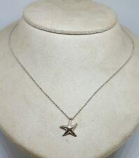 """Tiffany & Co Sterling Silver Elsa Peretti Starfish Pendant Necklace ~ 17"""""""