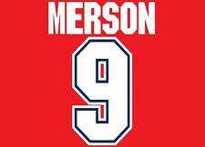 Merson #9 Arsenal Camisa de fútbol local para hogar 1995-1997