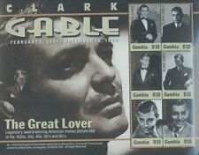 CLARK GABLE The Great Lover #2779 MNH Commemorative Sheet of 6 - Gambia E110