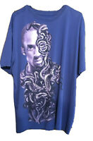 Nike Kobe Bryant Lover Dri Fit Lakers Mamba Snake Face Purple Tee Shirt Size 3XL