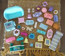 Fisher Price Loving Family & Other Furniture & Small Accessories Lot 37 Pieces