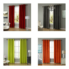 Solid Color Blackout Curtains Lint Fabric for Living Room Bedroom Decoration