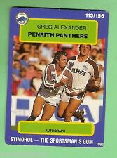 1990 PENRITH PANTHERS RUGBY LEAGUE CARD #113  GREG  ALEXANDER