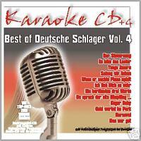 KARAOKE CD + G DEUTSCHE SCHLAGER VOL. 4 (NEU) GERD SHOW