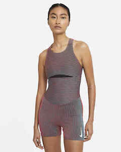 Nike Dry Womens Running Unitard Multi Color Size XS Tight Fit CK4234-635