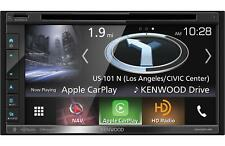 "Kenwood 2-Din 6.8"" Cd Dvd Player Car Stereo Receiver with Gps Navigation"