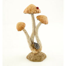 Miniature Hedgehog Sleeping on Mushrooms  TO 4509  Fairy Garden