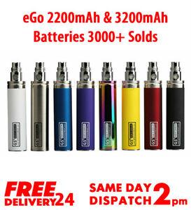 2200mah 3200mah Battery Genuine GS Ego E Cig E Shisha Rechargeable Pen Batteries