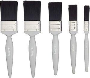 "Harris Essentials Woodwork Gloss Paint Brush - 0.5"", 1"", 1.5"", 2"", 3/5 Pack"
