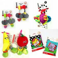 Baby Child Kid Sassy Crinkle Rattle Loopy Ball Banana Apple Bee Set Book Toy 0+