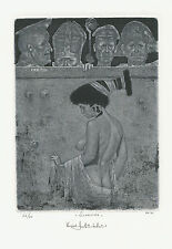 "Ex libris Erotic Exlibris ""Susanna and Elders"" by ANTJUCHIN KONSTANTIN /ukr"