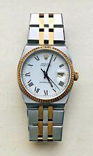 Rolex Caesar 18K Gold Oysterquartz Men's Roman Buckley White Dial DateJust Watch