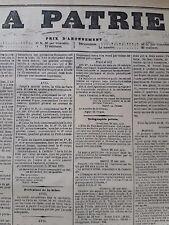 01/06/1871 JOURNAL ORIGINAL  LA PATRIE     COMMUNE DE PARIS SIEGE