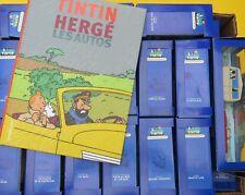 TINTIN HERGE EN VOITURE TINTIN  COLLECTION ATLAS COMPLETE + ALBUM  TTBE