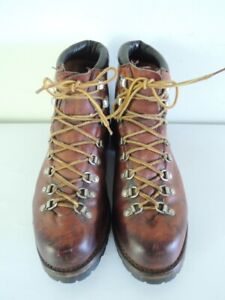 Vintage 1970s RED WING 825 6-Inch Brown Leather Hiking Trekking Boots Size 11 D