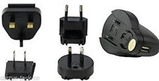 NEW BLACK UNIVERSAL TRAVEL CHARGER WITH USB OUTLET
