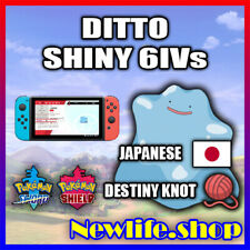 Pokemon Sword & Shield - JAPANESE Ditto - 6IV - Shiny - Destiny Knot - Pokerus
