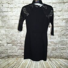 91c09aec BB Dakota Black Women's Size Small Lace A-line Dress Long Sleeve