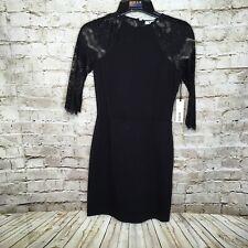 BB Dakota Black Women's Size Small Lace A-line Dress Long Sleeve