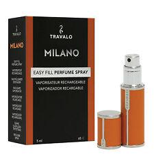 Travalo Milano – Orange orange – Refill Perfume Atomizer – luxurious leatherette