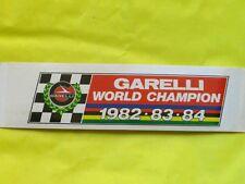 Adesivo GARELLI WORLD CHAMPION 1982 - 1983 - 1984 ORIGINALE MOTO D'EPOCA