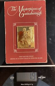 FRANKLIN MINT STERLING SILVER MASTERPIECES OF GAINSBOROUGH GIOVANNA BACCELLI