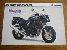SUZUKI GSF 1200S MOTORBIKE BROCHURE,  POST FREE (UK)