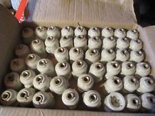 lot de 10 douilles anciennes en porcelaine B22 pour assiette autre