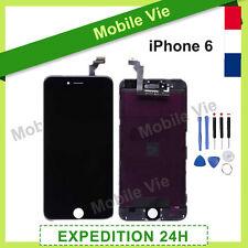 ECRAN IPHONE 6 NOIR VITRE TACTILE + LCD RETINA SUR CHASSIS + OUTILS