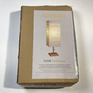 Adesso Dune Table Lamp Single Light 25 Inch Buffet Wood Steel Light 8021-12