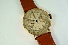 LONGINES 18K CHRONOGRAPH 13ZN FLYBACK EARLY ORIGINAL DIAL DATES 1939