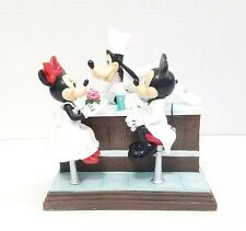 Disney Parks Mickey & Minnie Mouse Prom Date Goofy Soda Jerk Figurine Retired