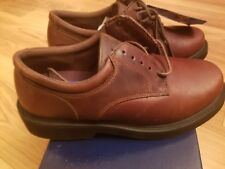 NIB Men's Dr. Scholl's Sammy Dark Brown Leather Backguard Footwear Oxford Sz 7M