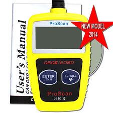 car diagnostic 16 pin scanner OBD2 EOBD CAN code reader reset