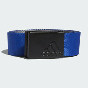 """ADIDAS GOLF MENS REVERSIBLE WEB BELT ROYAL BLUE/GREY CUT TO SIZE UP TO 48"""" 20640"""