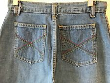 Vintage 1970s 80s High Waist Blue Jeans size 28x31 11 Colorful Pockets Usa P10