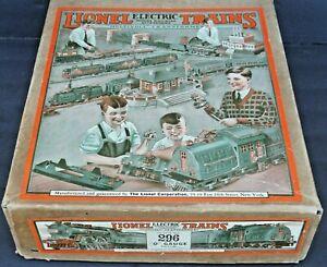 296 SET BOX FROM 1929 SUPERB CONDITION LIONEL PREWAR O GAUGE TOY TRAIN