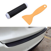 Car Rear Boot Bumper Sill Protector Plate Cover Guard Trim Strip Carbon Fiber