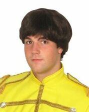 Sergente Pepper Beatles Parrucca-anni 60er Parrucca Uomo marrone testa di fungo-Parrucca