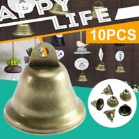 10x 38mm Vintage Bronze Jingle Bells for Making Wind Chimes DIY Tool Material