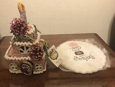 Rare Blue Sky Claywork January Garnet Cake Collection House Heather Goldminc