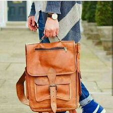 Vintage Genuine Leather Laptop Backpack Rucksack Messenger Bag Satchel Shoulder