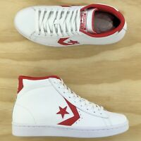 Converse Pro Leather 76 Mid Casino Red White Athletic Sneakers 157426C Size 8