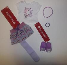 "American Girl skirt and top +shoes and accessories truly me 18""  doll  NWT"